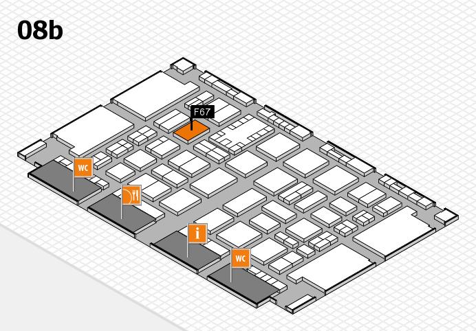TOP HAIR DÜSSELDORF 2017 hall map (Hall 8b): stand F67