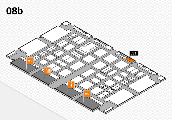 TOP HAIR DÜSSELDORF 2017 hall map (Hall 8b): stand J31