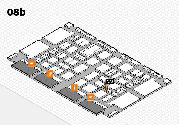 TOP HAIR DÜSSELDORF 2017 hall map (Hall 8b): stand D23