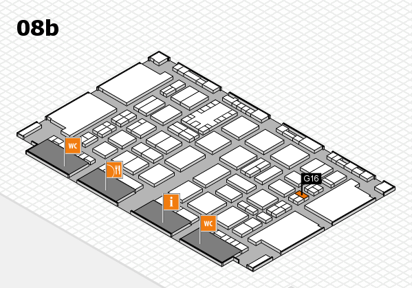 TOP HAIR DÜSSELDORF 2017 hall map (Hall 8b): stand G16