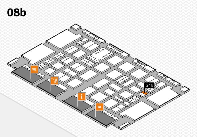 TOP HAIR DÜSSELDORF 2017 hall map (Hall 8b): stand G16