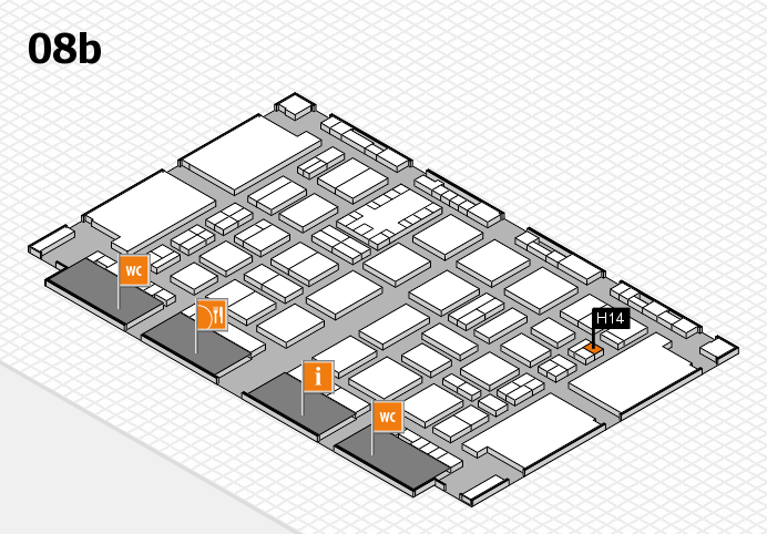 TOP HAIR DÜSSELDORF 2017 hall map (Hall 8b): stand H14