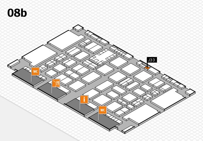 TOP HAIR DÜSSELDORF 2017 hall map (Hall 8b): stand J33