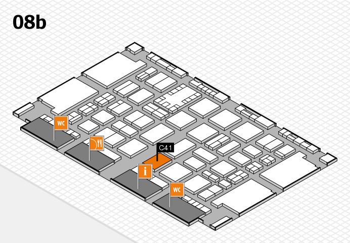 TOP HAIR DÜSSELDORF 2017 hall map (Hall 8b): stand C41