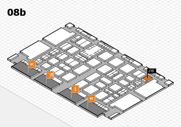 TOP HAIR DÜSSELDORF 2017 hall map (Hall 8b): stand J16