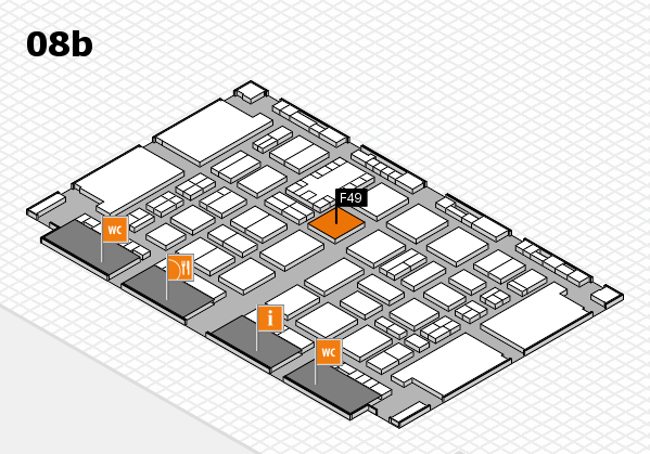 TOP HAIR DÜSSELDORF 2017 hall map (Hall 8b): stand F49
