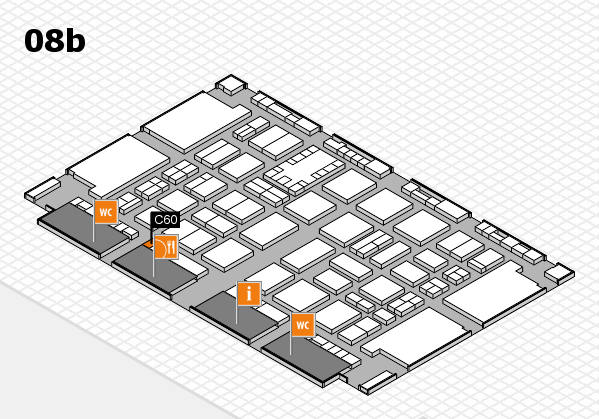TOP HAIR DÜSSELDORF 2017 hall map (Hall 8b): stand C60