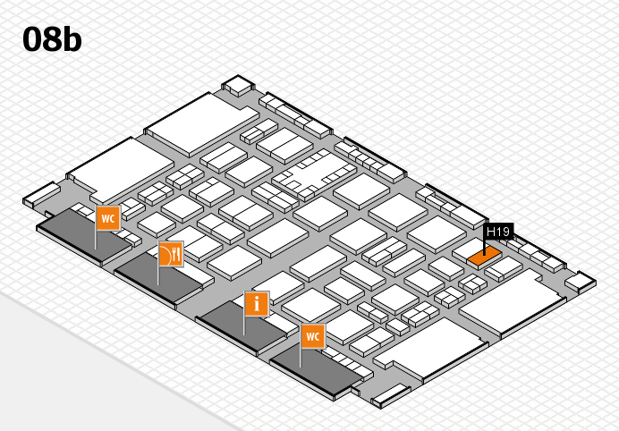 TOP HAIR DÜSSELDORF 2017 hall map (Hall 8b): stand H19