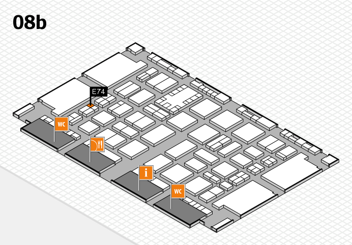 TOP HAIR DÜSSELDORF 2017 hall map (Hall 8b): stand E74