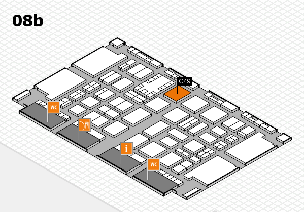 TOP HAIR DÜSSELDORF 2017 hall map (Hall 8b): stand G49