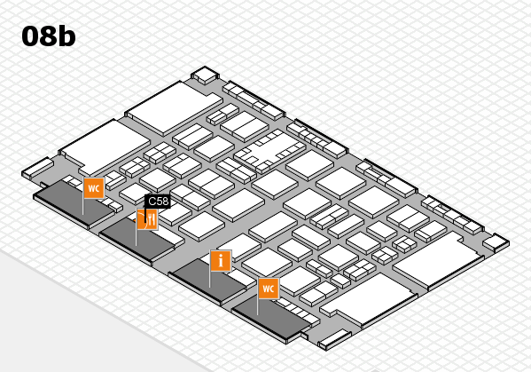 TOP HAIR DÜSSELDORF 2017 hall map (Hall 8b): stand C58