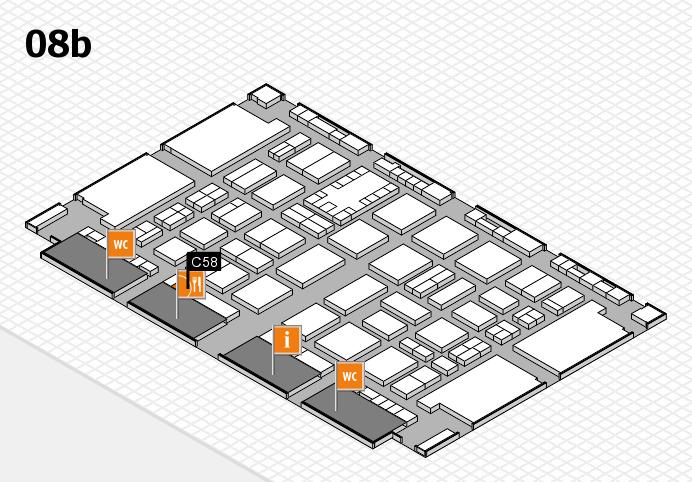 TOP HAIR DÜSSELDORF 2017 hall map (Hall 8b): stand C58