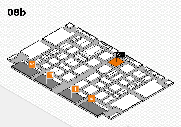 TOP HAIR DÜSSELDORF 2017 hall map (Hall 8b): stand G41