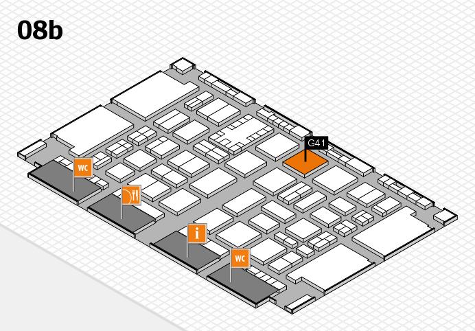 TOP HAIR DÜSSELDORF 2017 hall map (Hall 8b): stand G41