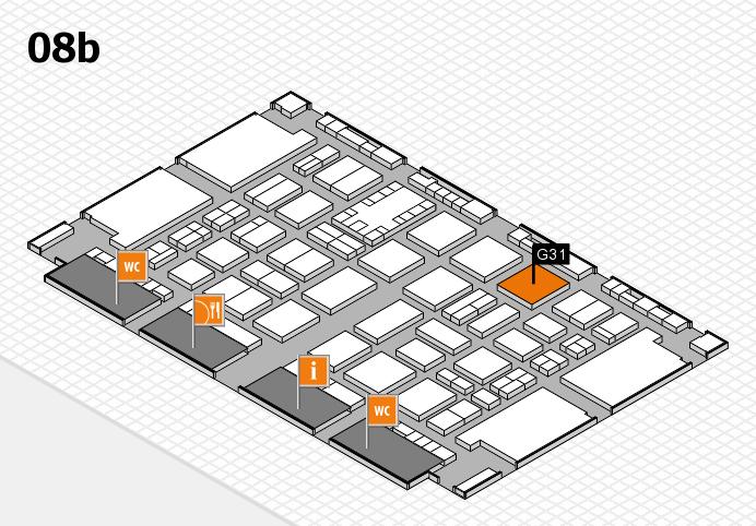 TOP HAIR DÜSSELDORF 2017 hall map (Hall 8b): stand G31
