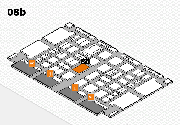TOP HAIR DÜSSELDORF 2017 hall map (Hall 8b): stand D49
