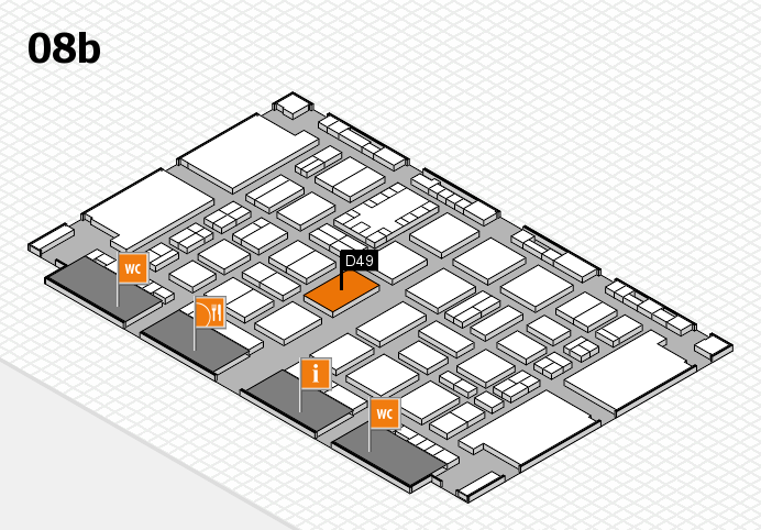TOP HAIR DÜSSELDORF 2017 hall map (Hall 8b): stand D49