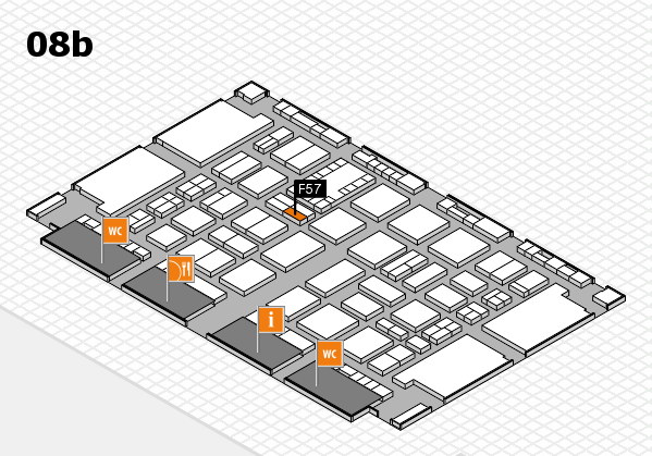 TOP HAIR DÜSSELDORF 2017 hall map (Hall 8b): stand F57