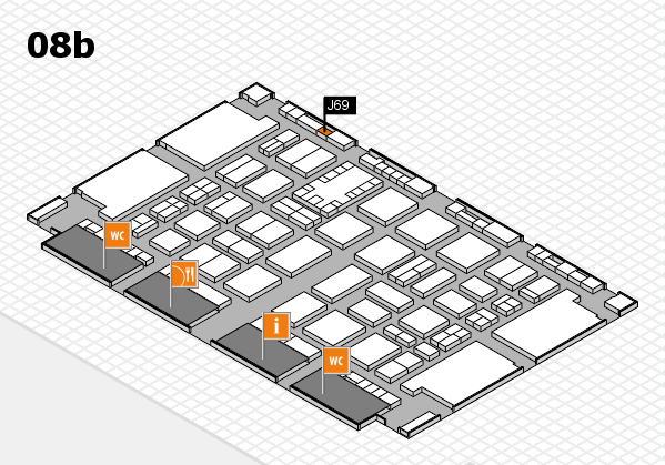 TOP HAIR DÜSSELDORF 2017 hall map (Hall 8b): stand J69