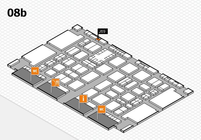TOP HAIR DÜSSELDORF 2017 hall map (Hall 8b): stand J69