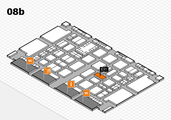 TOP HAIR DÜSSELDORF 2017 hall map (Hall 8b): stand E31