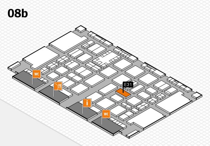 TOP HAIR DÜSSELDORF 2017 hall map (Hall 8b): stand E31
