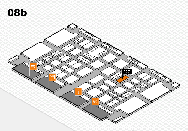 TOP HAIR DÜSSELDORF 2017 hall map (Hall 8b): stand F27