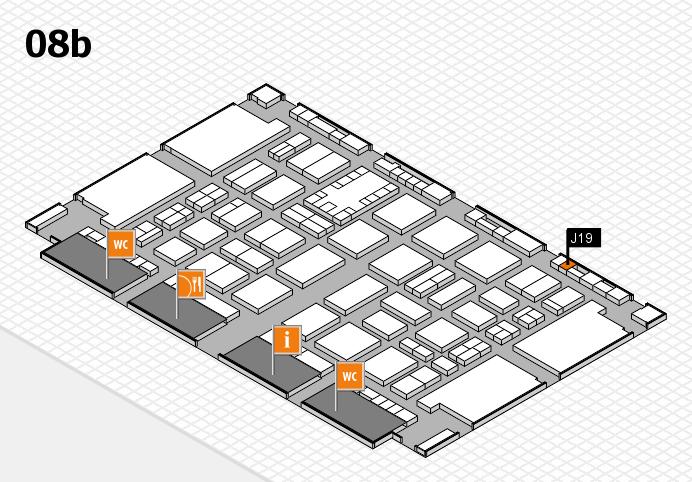 TOP HAIR DÜSSELDORF 2017 hall map (Hall 8b): stand J19