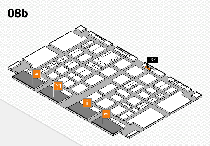 TOP HAIR DÜSSELDORF 2017 hall map (Hall 8b): stand J37