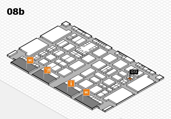 TOP HAIR DÜSSELDORF 2017 hall map (Hall 8b): stand G13