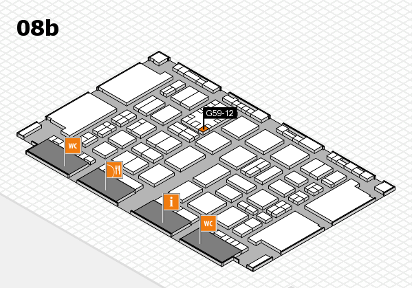 TOP HAIR DÜSSELDORF 2017 hall map (Hall 8b): stand G59-12