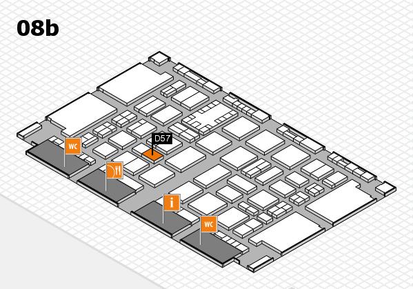 TOP HAIR DÜSSELDORF 2017 Hallenplan (Halle 8b): Stand D57