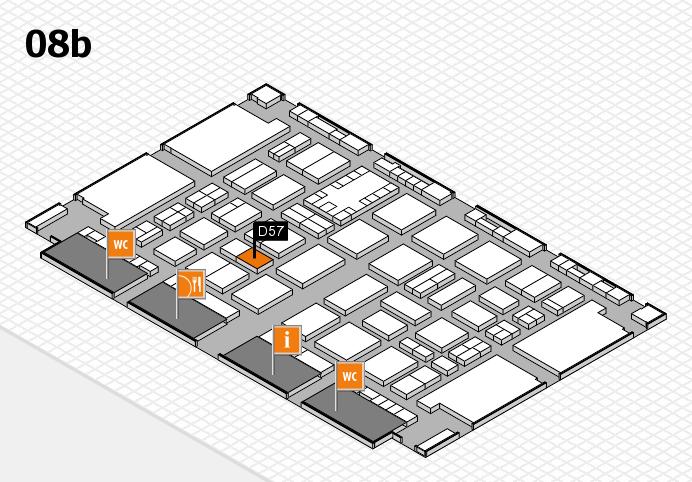 TOP HAIR DÜSSELDORF 2017 hall map (Hall 8b): stand D57