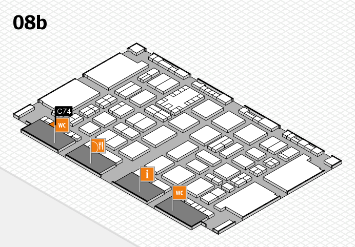 TOP HAIR DÜSSELDORF 2017 hall map (Hall 8b): stand C74