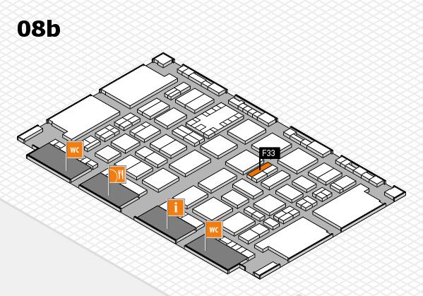 TOP HAIR DÜSSELDORF 2017 hall map (Hall 8b): stand F33