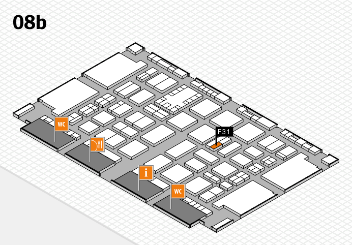 TOP HAIR DÜSSELDORF 2017 hall map (Hall 8b): stand F31