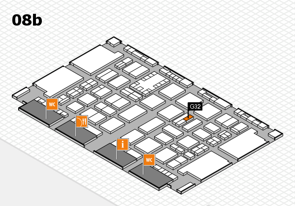 TOP HAIR DÜSSELDORF 2017 hall map (Hall 8b): stand G32