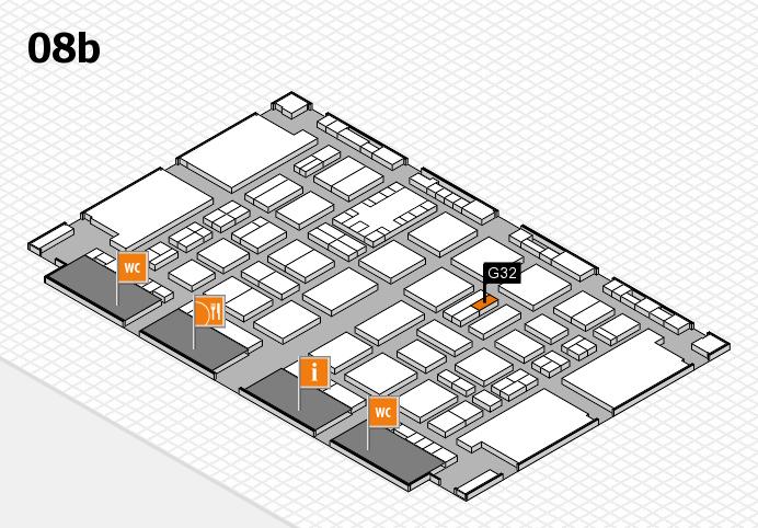 TOP HAIR DÜSSELDORF 2017 hall map (Hall 8b): stand G32