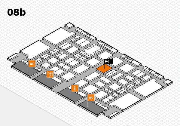 TOP HAIR DÜSSELDORF 2017 Hallenplan (Halle 8b): Stand F41