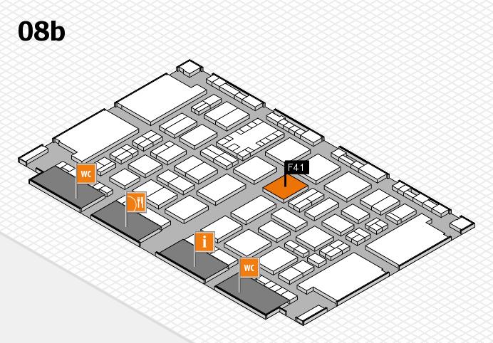 TOP HAIR DÜSSELDORF 2017 hall map (Hall 8b): stand F41