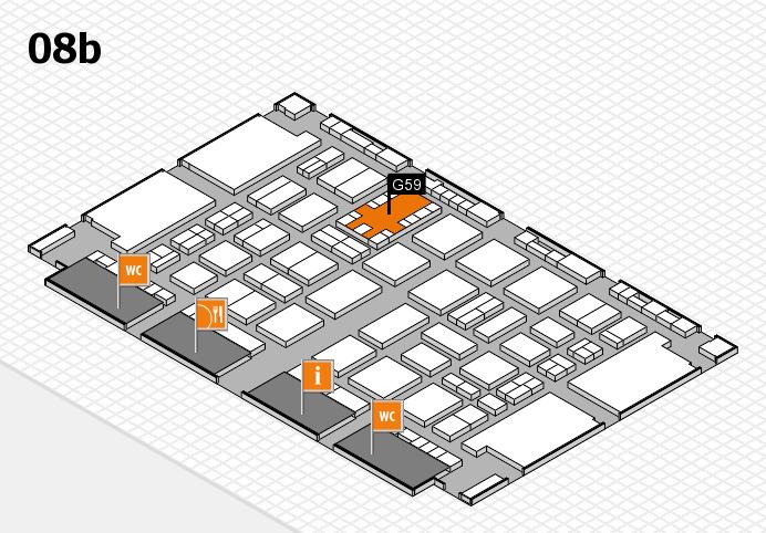 TOP HAIR DÜSSELDORF 2017 hall map (Hall 8b): stand G59