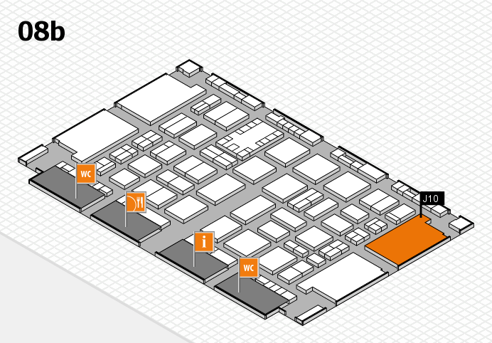 TOP HAIR DÜSSELDORF 2017 hall map (Hall 8b): stand J10