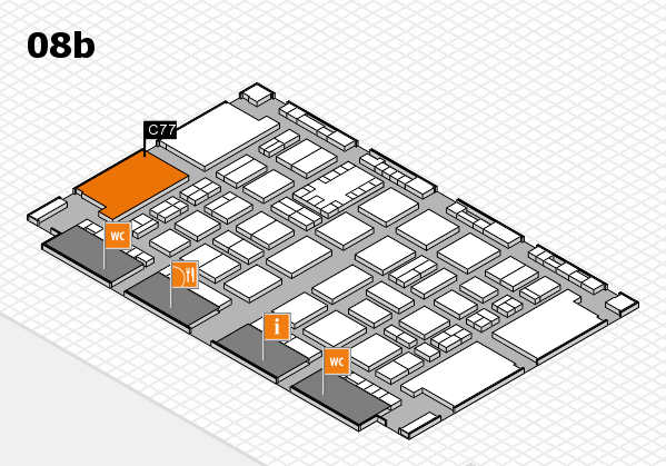 TOP HAIR DÜSSELDORF 2017 hall map (Hall 8b): stand C77