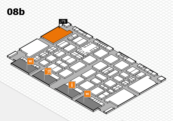 TOP HAIR DÜSSELDORF 2017 hall map (Hall 8b): stand J78