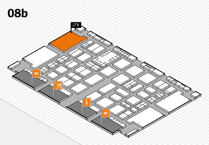 TOP HAIR DÜSSELDORF 2017 hall map (Hall 8b): stand J78