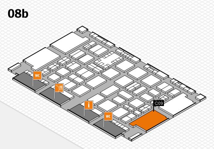 TOP HAIR DÜSSELDORF 2017 hall map (Hall 8b): stand C09