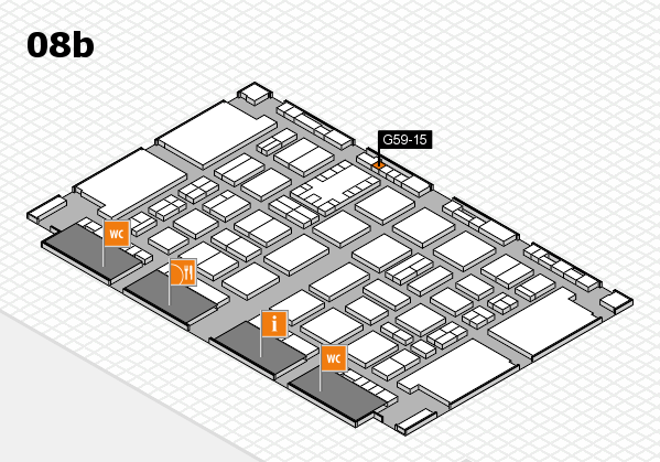 TOP HAIR DÜSSELDORF 2017 hall map (Hall 8b): stand G59-15