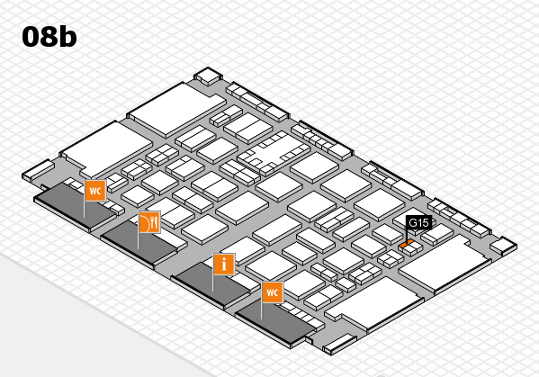 TOP HAIR DÜSSELDORF 2017 hall map (Hall 8b): stand G15