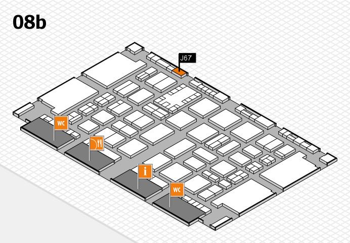 TOP HAIR DÜSSELDORF 2017 hall map (Hall 8b): stand J67