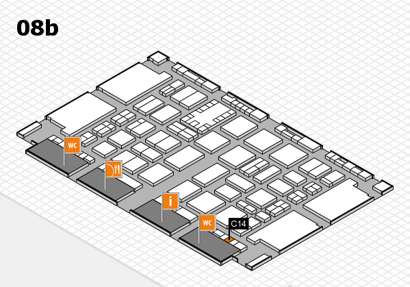 TOP HAIR DÜSSELDORF 2017 hall map (Hall 8b): stand C14